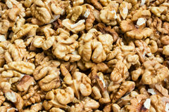 Walnut kernels pattern Stock Images