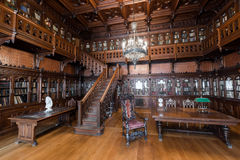 Walnut Library last Russian Tsar Nicholay II in the Hermitage Royalty Free Stock Images