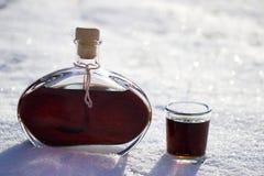 Walnut liqueur Stock Images