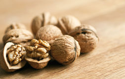 Walnut macro Royalty Free Stock Image