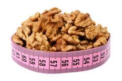 Walnut and meter Stock Photos