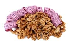 Walnut and meter Stock Photo