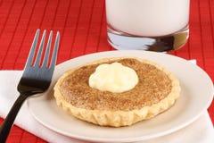 Walnut mini tart with mascarpone Stock Photography