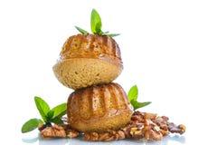 Walnut muffins Royalty Free Stock Photography