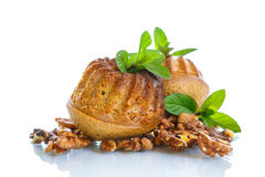 Walnut muffins Stock Photos