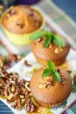 Walnut muffins Stock Photo