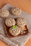 Walnut muffins, vertical Stock Photography