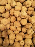 Abstract background image of shelled walnuts Royalty Free Stock Photos