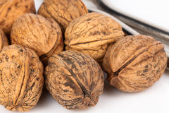 Walnut with nutcracker Royalty Free Stock Photo