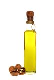 Walnut oil in a bottle. Royalty Free Stock Image
