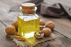 Walnut oil Stock Image