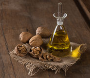 Walnut oil Stock Image