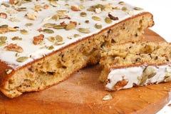 Walnut pie under a sweet glaze Stock Image