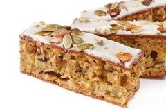 Walnut pie under a sweet glaze Royalty Free Stock Image