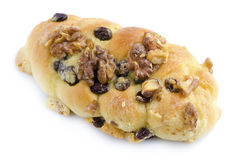 Walnut Raisin Bun Stock Photography