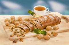 Walnut Roll Royalty Free Stock Photos