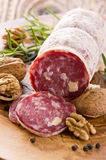 Walnut Salami Royalty Free Stock Photo