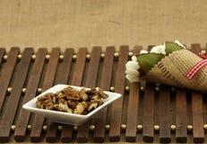 Walnut seed Stock Photos