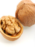 Walnut with shadow Royalty Free Stock Images