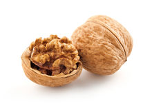 Walnut in shell Stock Photo