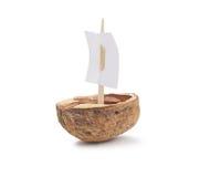 Walnut Shell Boat Royalty Free Stock Photography