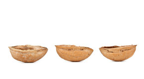 Three walnut shells Stock Photography
