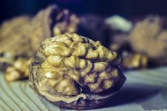 Walnut. Some walnuts on the table Stock Photography