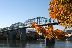 Walnut Street Bridge stock images