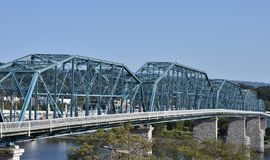 Walnut Street Bridge. In Chattanooga Tennessee over the Tennessee River stock images