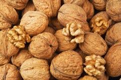 Walnut texture Stock Photos