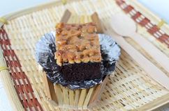 Walnut toffee cake Royalty Free Stock Images