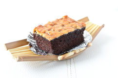 Walnut toffee cake Stock Photos