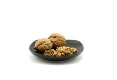 Walnut and walnut kernel Royalty Free Stock Photos