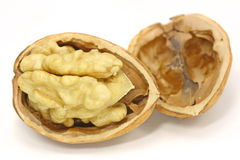 Walnut on white background Royalty Free Stock Photography