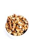 Walnut on white background Stock Photo