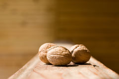 Walnut on wood 02 Royalty Free Stock Photo