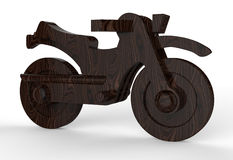Walnut wooden motorcycle Stock Image