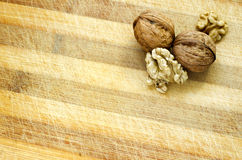 Walnut Wooden Table Background Royalty Free Stock Image