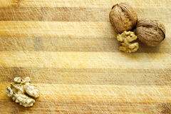Walnut Wooden Table Background Royalty Free Stock Images