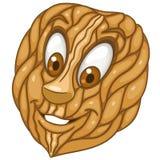 Cartoon walnut garden nut Royalty Free Stock Photo