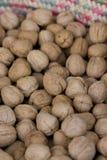 Walnuts. A sack full of walnuts Royalty Free Stock Photo