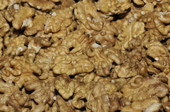 Walnuts. In basket close-up Stock Photos
