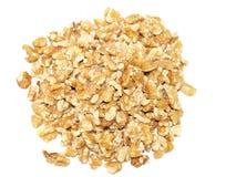 Walnuts. On white background. Pile of Stock Photo