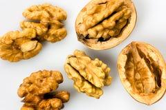 Walnuts. Italian walnuts - dried fruit for mediterranean diet Stock Photos