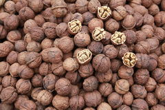 Walnuts. Some walnuts in a Chinese supermarket Royalty Free Stock Photo