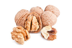 Walnuts. A butiful walnuts with the kernel Royalty Free Stock Photos