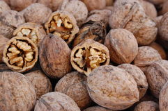 Walnuts. Some walnuts as a background Royalty Free Stock Photos