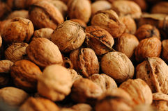 Walnuts. Closeup of ripe brown walnuts Royalty Free Stock Images