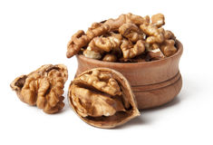 Walnuts. On a white background Stock Image