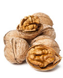 Walnuts. On a white background Royalty Free Stock Photography